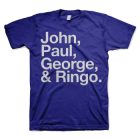 The Beatles: Names T-Shirt