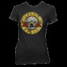 Guns N Roses: Bullet Logo Girlie Tee