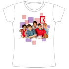 One Direction: Photo & Squares T-Shirt