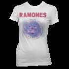 Ramones: Pink Foil Seal Girlie Tee