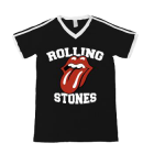 Rolling Stones: Black Athletic Soccer Tee