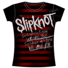 Slipknot: Red Stripes Girlie Tee