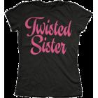 Twisted Sister: Script Logo Girlie Tee